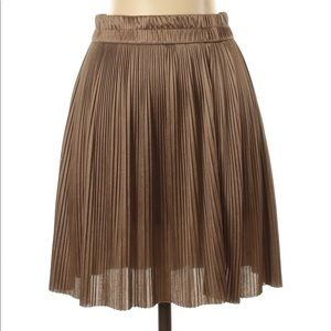 2/$30 Forever 21 Brown Pleated Skirt S